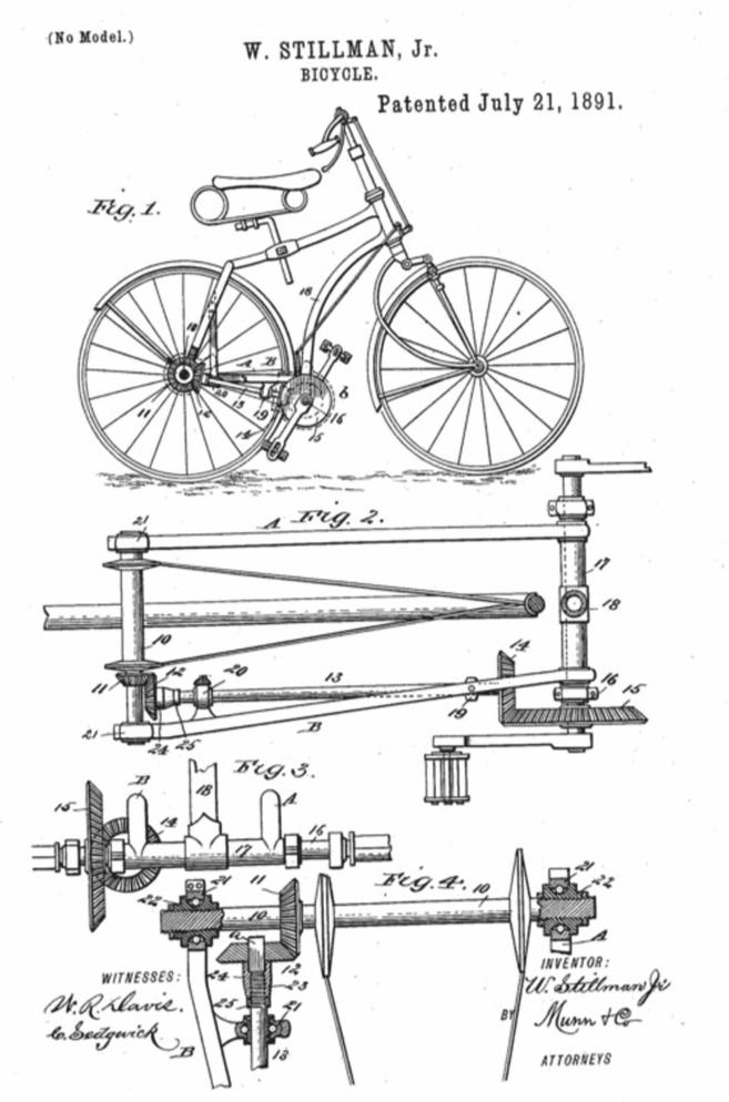 Het eerste patent van een cardanfiets